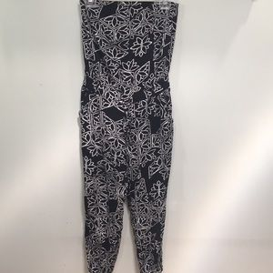 Black and White Printed Jumpsuit